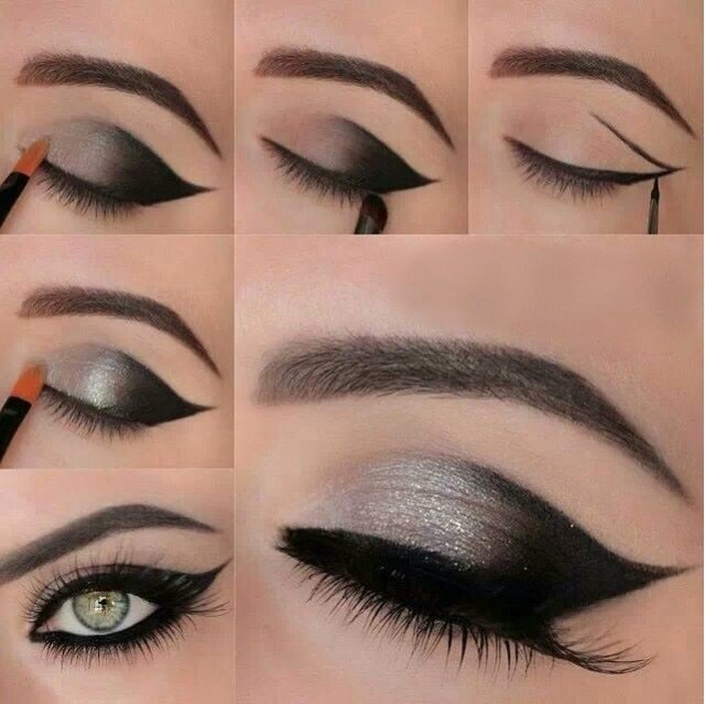 Gorgeous-Black-and-Silver-Eye-Makeup-Tutorial