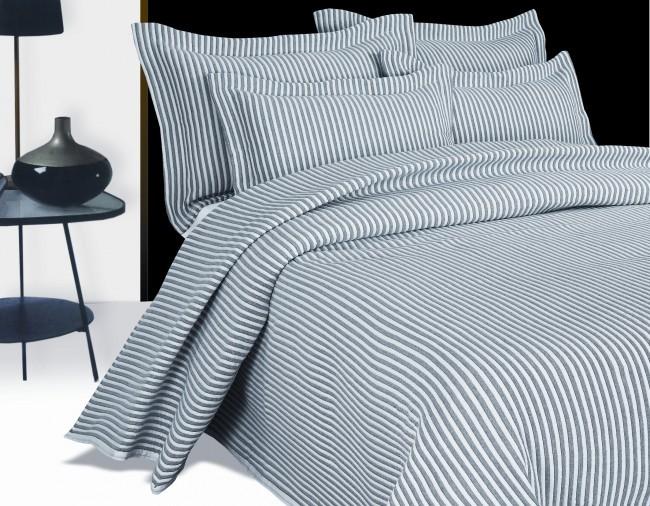 Arctic grey bedspread