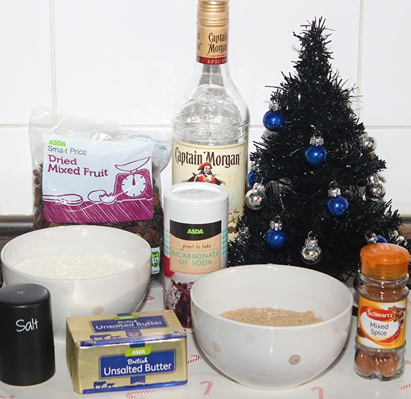 Christmas cookie ingredients