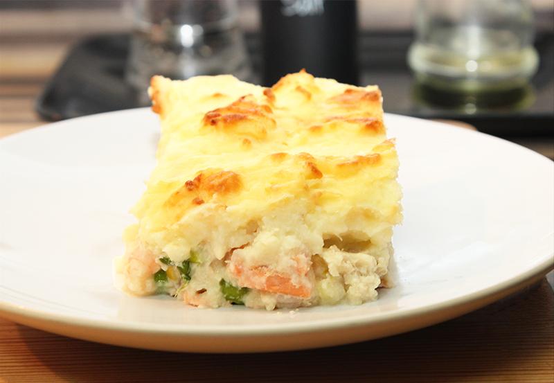 Fish pie slice