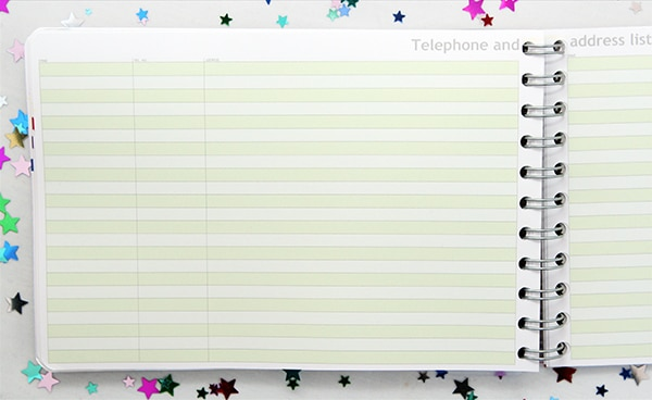 Personal Planner address book