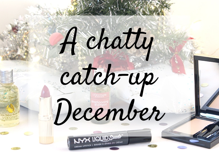 Presents and beauty products under the Christmas Tree